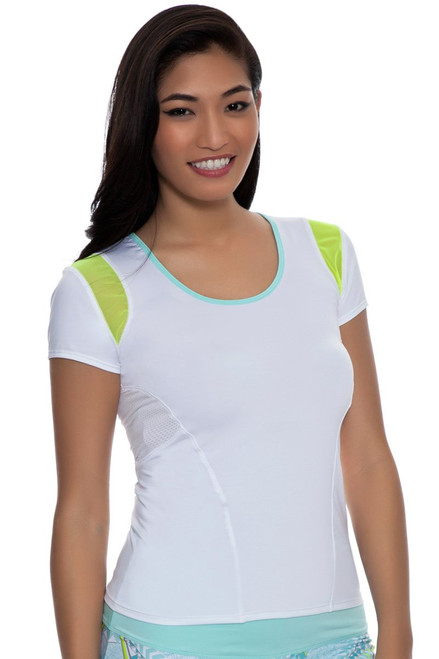 Lucky In Love Retro Wave Tennis Shirt - CT215