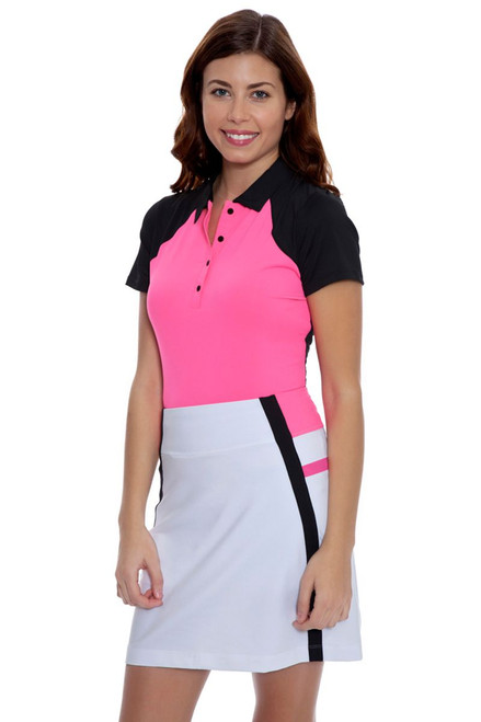 Annika Women's Outline Michelle Color Blocked Pull On Golf Skort