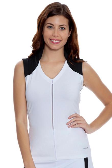 Annika Women's Outline Triss V-Neck Sleeveless Golf Shirt
