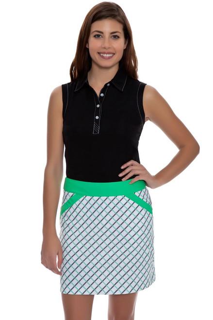 Annika Women's Green Play Green Play Print Golf Skort