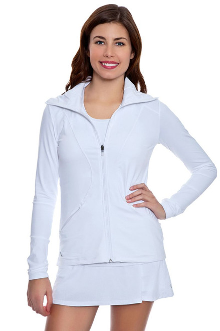 Essential Zip Up Jacket LO-LSW1705-White Image 3