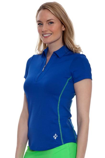 Jofit Women's Melon Ball Fusion Short Sleeve Golf Polo Shirt JF-GT188-CBT Image 4