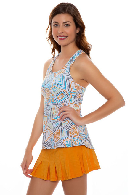 Eleven Women's Geo Swirl Flutter Pleated Tennis Skirt - 2 Lengths E-GS117S Image 2