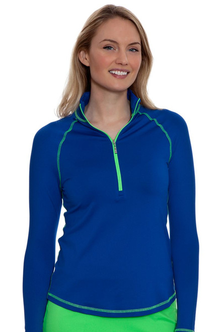 Jofit Women's Melon Ball Jacquard Long Sleeve Mock Golf Top JF-UT125-CBT Image 4