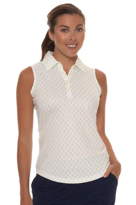 Greg Norman Women's Key Largo Ditzy Print Sleeveless Golf Shirt GN-G2S6K605 Image 6