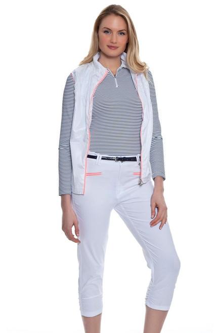 Golfino Women's Volcano Ruched Stretch Techno Golf Pant