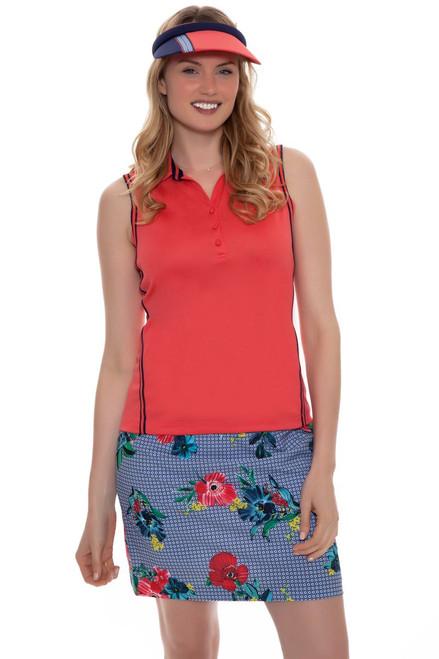 EP Pro Women's Rittenhouse Floral Toss Geo Print Pull On Golf Skort