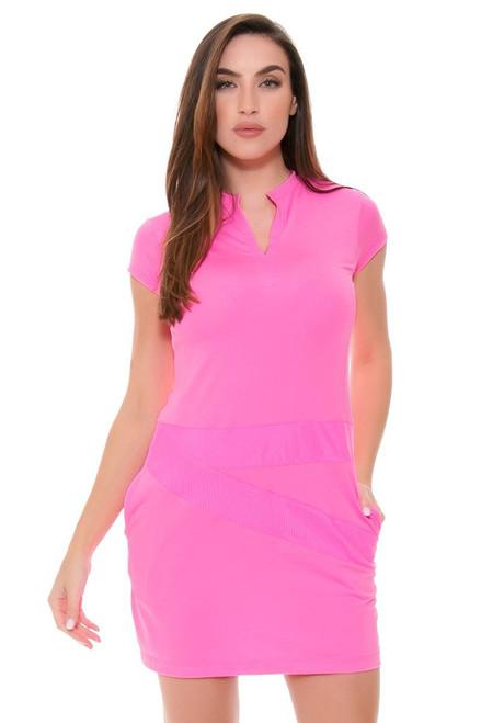 EP Sport Women's Coachella Lineup Mesh Blocked Golf Dress ES-3100SGA Image 4