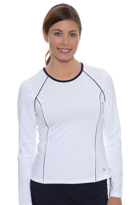 Fila Women's  Gingham Long Sleeve Top with Gingham Trim FT-TW161MU5-100 Image 4