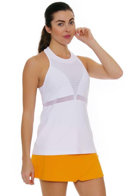 Eleven Women's Geo Swirl Fly Orange Tennis Skirt