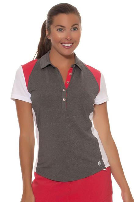 GGBlue Women's Ruby Sky Raven Colorblock Golf Polo GG-E998-1606 Image 1