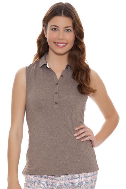 Fairway and Greene Women's Somerset Natalie Sleeveless Golf Polo Shirt