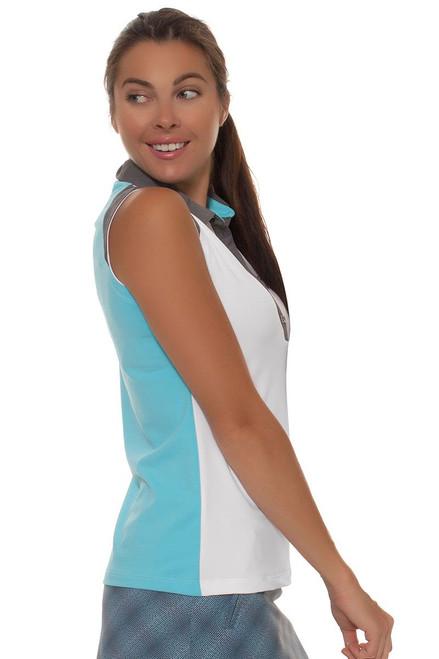 Annika Women's Sky Above Cressida Sleeveless Golf Polo Shirt