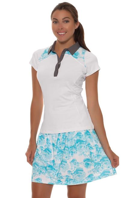 Annika Women's Sky Above Isobel Knit Print Pull On Golf Skort
