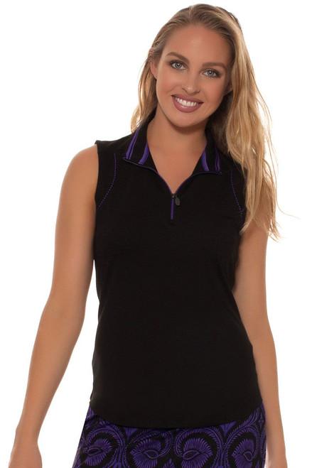 Greg Norman Women's El Morado Piped Trim Golf Polo Shirt GN-G2F6K909 Image 4
