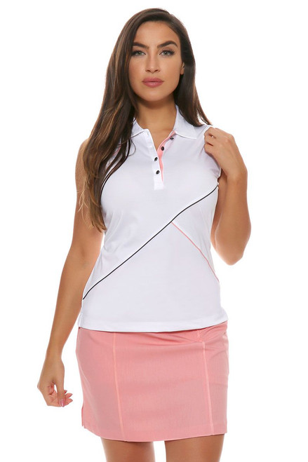 EP Pro J'Adore Stretch Melange Ribbon Trim Pull On Golf Skort