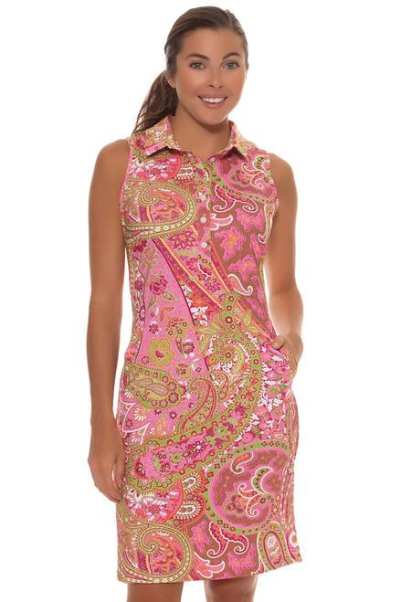 Tee 2 Sea Women's  Pink Paisley Print Golf Dress T2S-1110PP Image 4