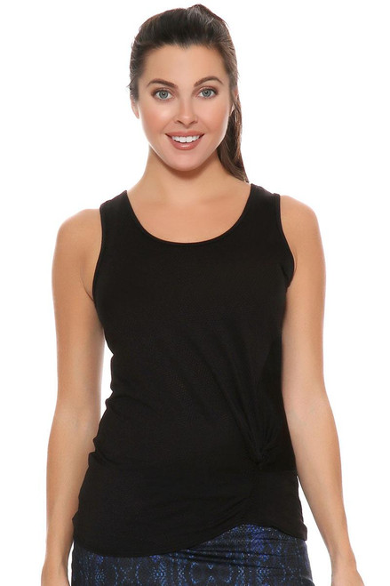 Lucky In Love Women's Core Tops Do The Twist Black Tennis Tank LIL-CT314-001 Image 4