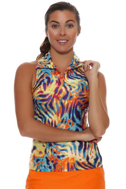 Tzu Tzu  Annie Coral Reef Golf Sleeveless Shirt TU-ANN101031 Image 4