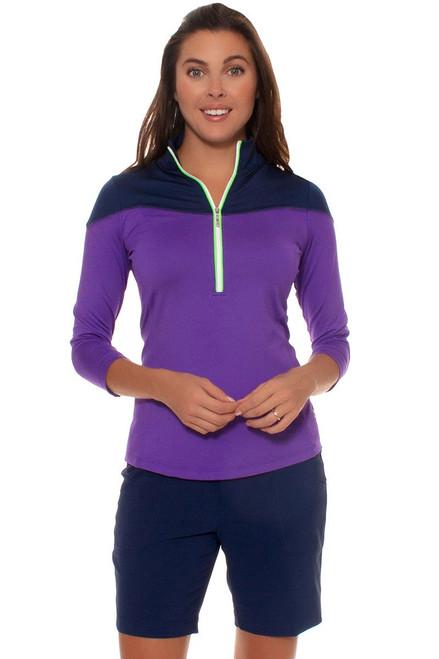 Jofit Women's Basics Belted Navy Blue Golf Short JF-GB505-BLD Image 4