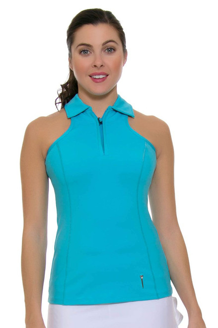 Cut Out Racerback Golf Top FTE-005-Blue Image 1