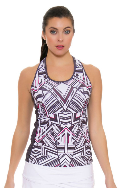Lucky In Love Women's In the Fast Lane Fast Lane Racerback Black Tennis Tank LIL-CT265-095002 Image 4