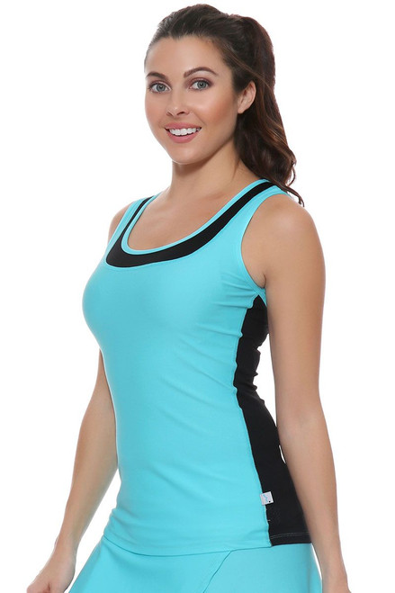 Cabo Blue Vented Tennis Tank Top BP-40849 Image 4