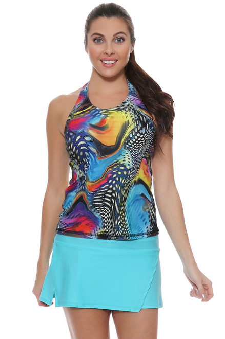 Cabo Blue Wrap Tennis Skirt BP-40479 Image 4