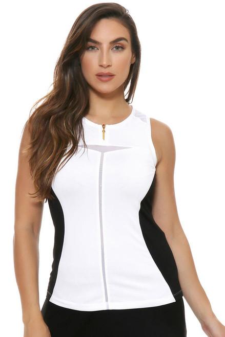 Annika Women's Share My Passion Nicola Zip Crew Sleeveless Golf Shirt