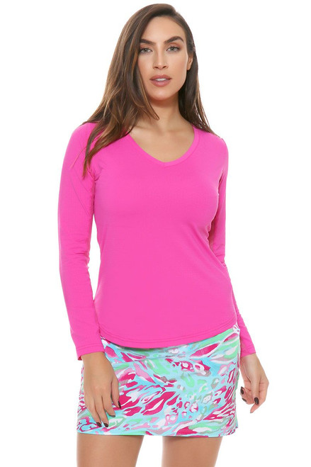 Summer Skin Pink Pull Golf Skort