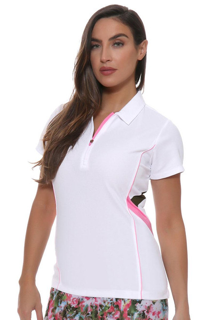EP Sitting Pretty Contrast Piped and Color Block Golf Polo Shirt EP-5712LA Image 4
