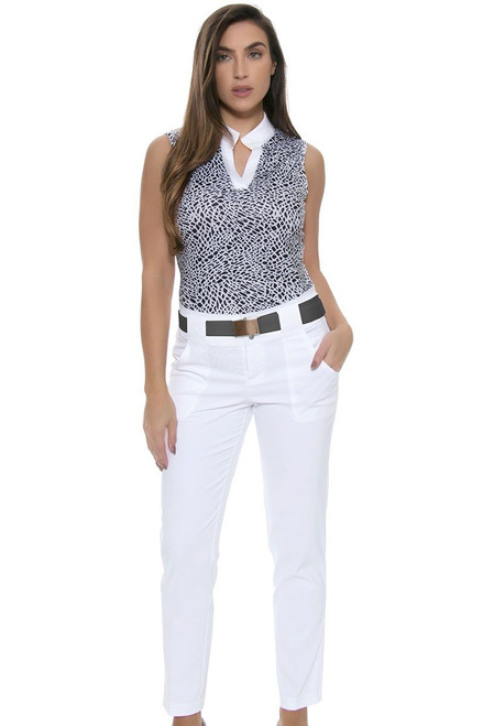 Jofit Women's Sonoma Sport Belted Cropped Golf Pant JF-GB510 Image 1