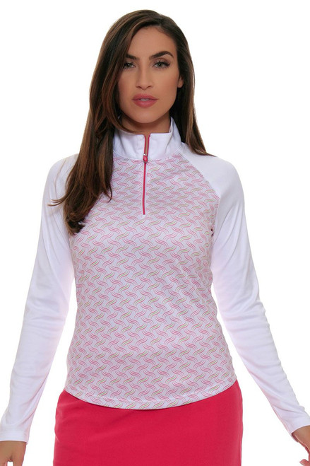 Greg Norman Women's Long Sleeve Golf Short | Pretty in Pink Collection