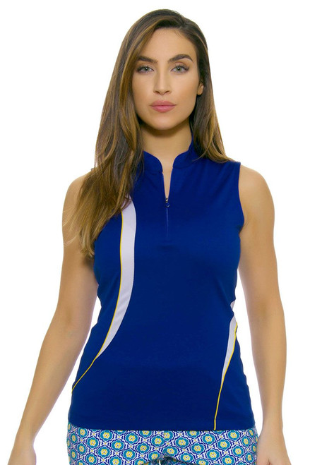 EP Ipanema Zip Mandarin Collar Golf Sleeveless Shirt EP-5727LB Image 4