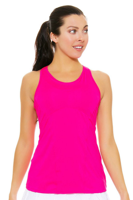 Lucky In Love Women's Core Tops Goddess Cami Pink Tennis Tank LIL-CT213-645 Image 4
