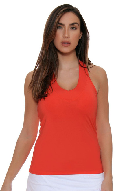 Lucky in Love Core V-Neck Flame Tennis Tank with Built-in Bra LIL-CT60-807 Image 4