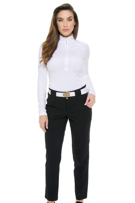 Jofit Women's Basics Black Belted Cropped Golf Pant JF-GB510-BLK Image 4