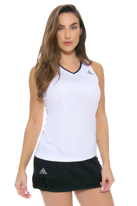 Black Ruffle Trim Climachill Tennis Skirt A-AI0764 Image 4