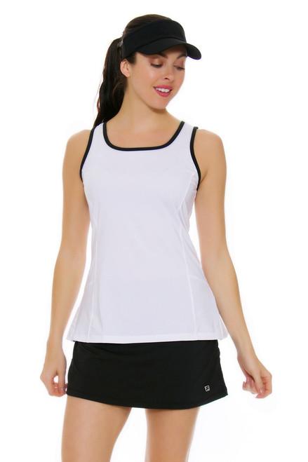 Shirred Side Black Tennis Skirt FT-TW161PK3-001 Image 4