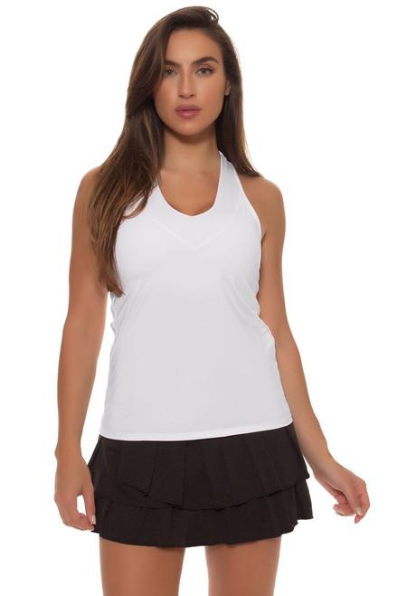 Pleat Tier Core Black Tennis Skirt LIL-CB78-001 Image 4