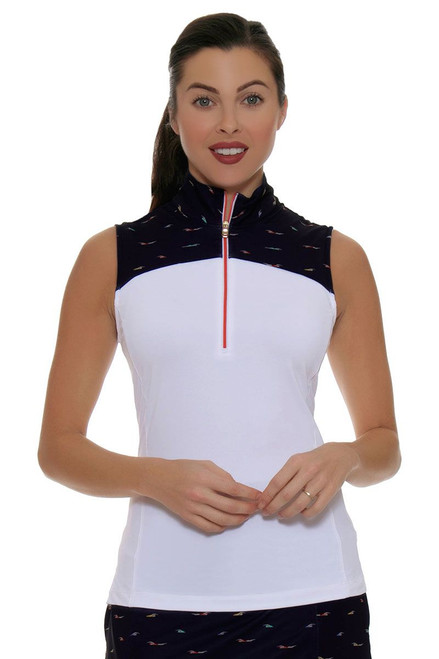 Fairway and Green Shore Line Cate Sleeveless Golf Polo Shirt