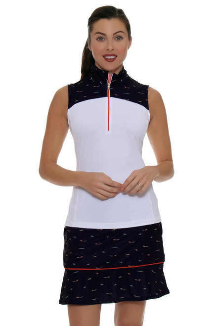 Fairway and Green Shore Line Eden Pull On Golf Skort