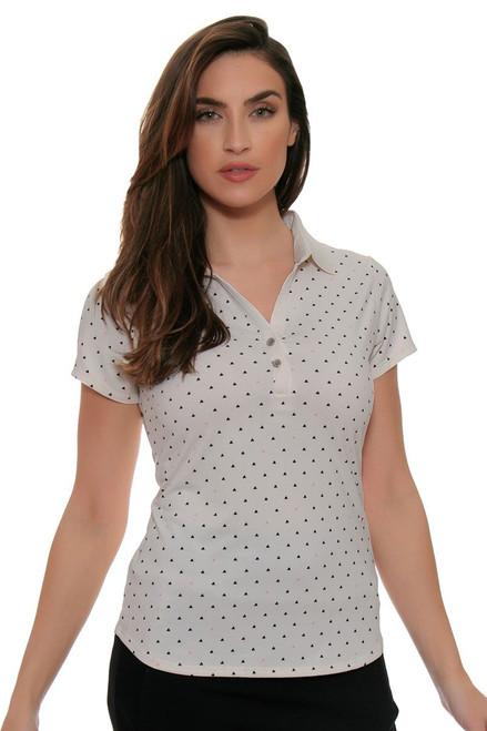 Cutter & Buck Women's Simone Aubrey Print Golf Short Sleeve Shirt
