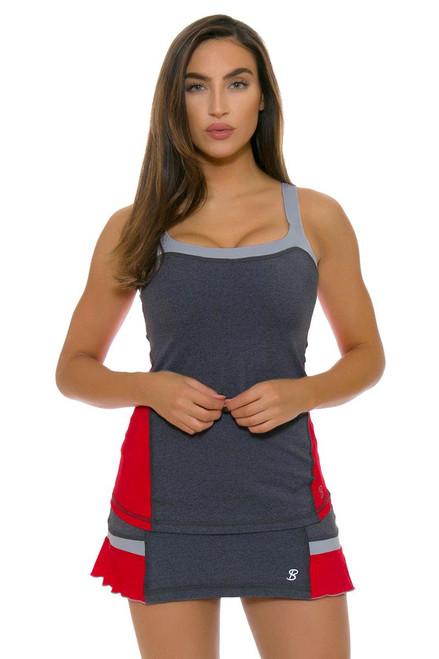 Sofibella Conquest Back Flounce Hem 12 Tennis Skirt