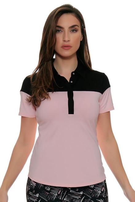 Cutter & Buck Women's Simone Deco James Colorblock Golf Short Sleeve Shirt