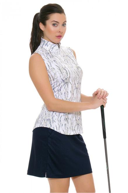 Greg Norman Skins Game Embossed Python Knit Pull On Golf Skort