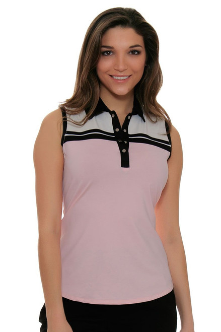 Cutter & Buck Women's Simone Brette Colorblock Golf Sleeveless Shirt