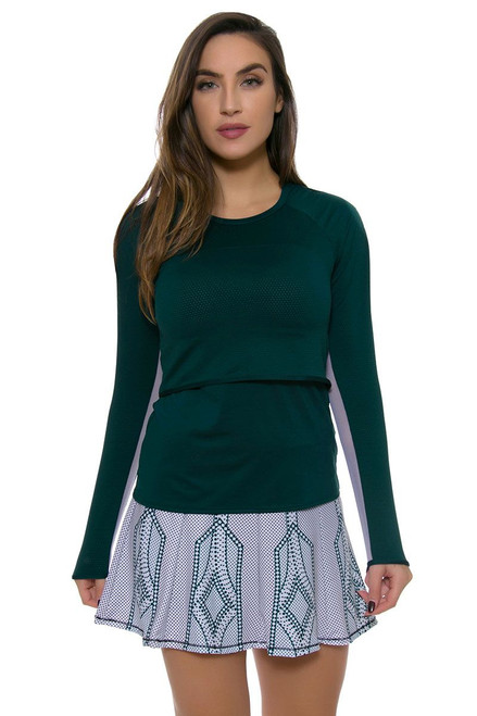 Lucky In Love Women's Green With Envy Green Envy Long Tennis Skirt LIL-CB143-148302