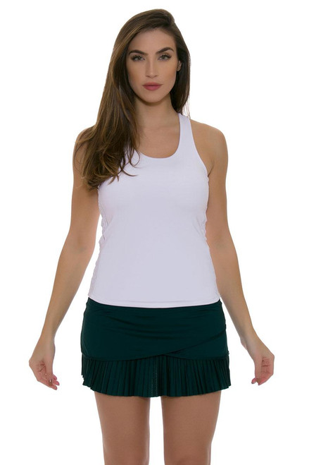 Lucky In Love Women's Green With Envy Long Scallop Pleat Spruce Tennis Skirt LIL-CB182-302 Image 1