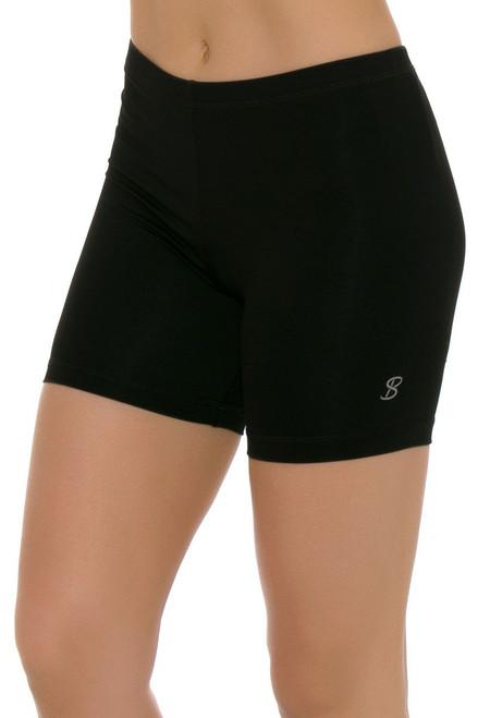 """Sofibella Women's Basic Black Shortie 5"""" Inseam SFB-1645 Image 4"""